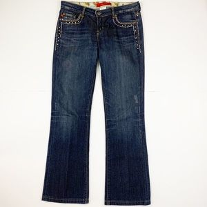 Anthropologie Level 99 Studded Bling Bootcut Jeans